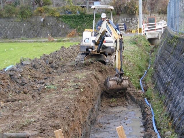 貫地区地先水路整備工事